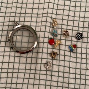 Jewelry - Origami Owl locket and charms